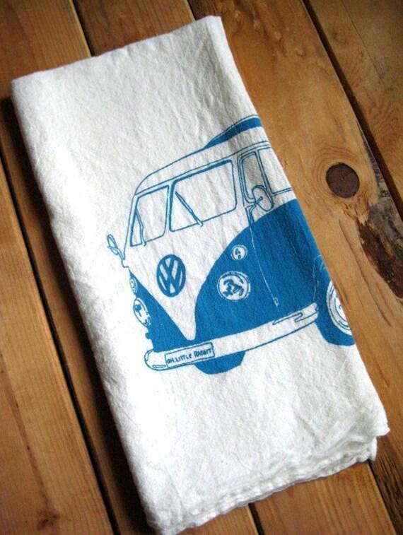 Screen Printed Organic Cotton VW Flour Sack Towel