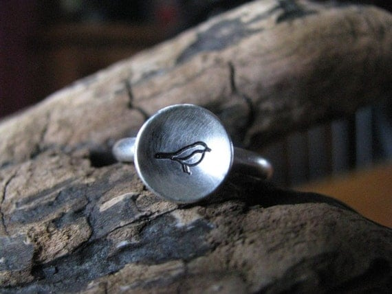 Bird in the Hand sterling silver ring