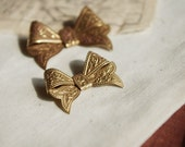 4Pcs Vintage Victoria Style Raw Brass Ribbons
