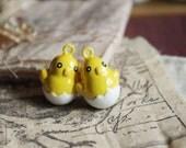 6Pcs Brass and Enamel Chick Bells