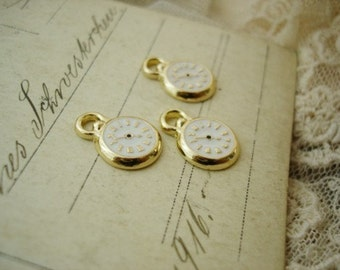 6 Tiny Gold Clocks
