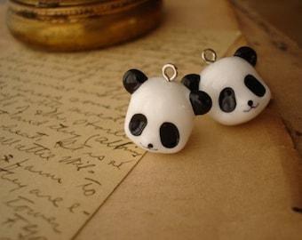 10Pcs Panda Head Charms