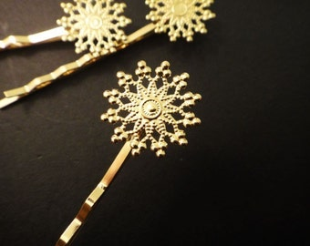 8Pcs 18K Gold Plated Bobby Pins E