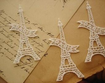 3 Pcs Eiffel Tower Appliques
