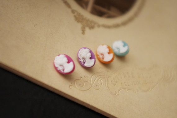 8Pcs Delicate Mini Cameo Buttons-For Doll