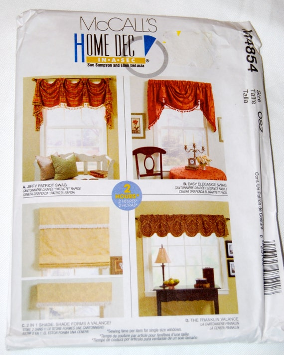 M4854 McCall's Swag And Valance Patterns