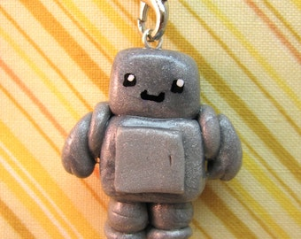 0011010110 Wants To Be Your Friend - Robot Cell Phone Charm