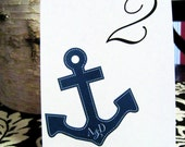 Anchor Table Numbers and Menu - Set of 10