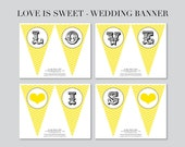 Printable Banner - LOVE IS SWEET banner - from Flair Designery