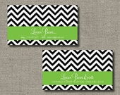 Calling Cards, Call Me Cards, Business Cards - Set of 100 - Chevron Ikat by Abigail Christine Design