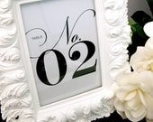 Any Color, PRINTED Set of 20 Classy Table Numbers for Weddings, Parties, Events and more by Abigail Christine Design