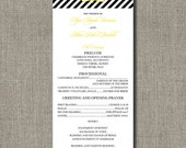 Set of 50 - FULLY CUSTOMIZABLE Wedding Programs - You Choose Your Pattern and Colors by Abigail Christine Design
