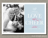 Holiday or New Years Photo Card - PRINTABLE - New Year Love by Flair Designery