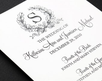 Set of 50 Wedding Programs - Double-Sided - FULLY CUSTOMIZABLE - Kate Collection by Abigail Christine Design
