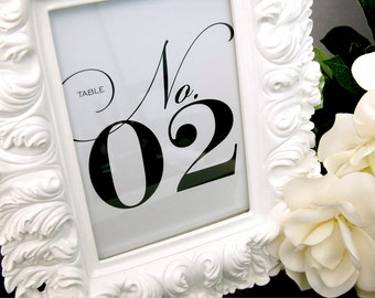 CLEARANCE SALE! Set of Classy Table Numbers for Weddings, Parties, Events and more by Abigail Christine Design