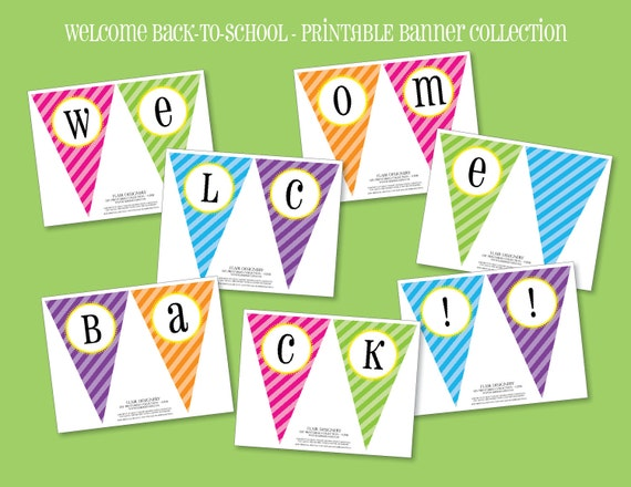 Simplicity image for welcome back sign printable