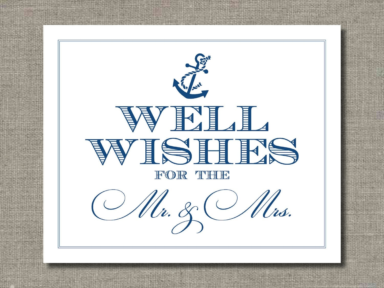 well wishes 8 x 10 wedding poster table sign or art print by flair designery