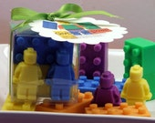 Set of 10 Building Blocks and Mini Men Action Figurine Soap Set Party Favor Boy Girl Adventure Birthday Soaps