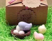 Custon Listing for Kceawalker - 2 Sets of Sweet Tweets Bird Nest and Eggs SOAP SET Spring Easter Baby Shower Party Favor