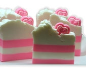 SALE - LAST ONE Pink Sugar Sweetheart Whipped Shea Butter Soap Bar 6.5 oz Gift