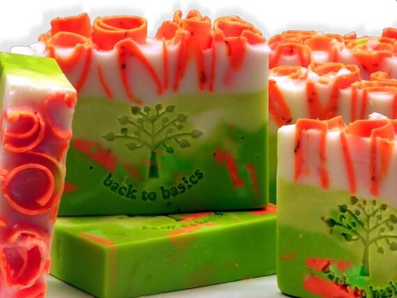 Ginger Lime Natural Shea Butter Soap 4.2 oz,  Moisturizing Vegan
