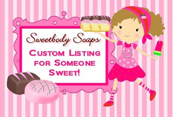 Custom Listing for Joan - 50 Custom Mini Bath Cuppies Soap Cupcake Bath Bomb Fizz Fizzy Fizzie Spa Party Shower Favors