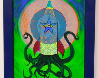 octopus rocket painting