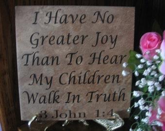 Mother's Day - Stone Tile (6in x 6in.) with vinyl saying - Children-Home Decor-Custom Gift-Vinyl Lettering on stone-Christmas-Christmas Gift