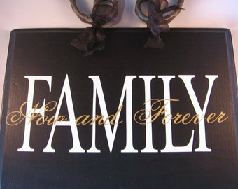 Family...Now and Forever (set of 2 Vinyl Decals)  - Home Decor - DIY  - Custom - Vinyl Decal Stickers
