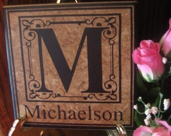 Personalized Monogram Vinyl Decal Sticker - Wedding - Family Reunion - Anniversary - Home Decor - Custom Gift