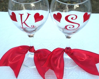 Valentine's Day, Heart Decals for Glasses, Vinyl Decal Stickers, GLASSES NOT INCLUDED, Valentine's Day, Hearts, Wedding,Celebrations