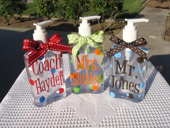 teachers personalized hand sanitizer 10oz by santasgiftshoppe With hand sanitizer gifts personalized
