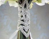 GLAMOUR  Corset Style Rhinestone and Silk Bouquet Wrap