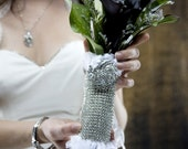 ADORE Bridal Collection Rhinestone an Tulle Bouquet Wrap