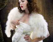 MINK TAILS Marabou Feather shrug from the GLAMOUR Bridal Collection