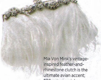 As Seen in BRIDES Magazine  STARLET  Clutch in Ivory