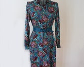 Floral Silk Dress - Button Front Dress