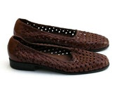 Vintage Leather Woven Loafer