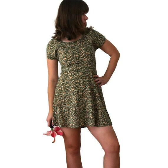 90s Floral Dress - 90s Grunge Dress