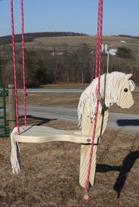 Childs Wooden Horse Swing