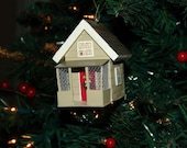 House-shaped Christmas Ornament (RESERVED FOR CHERYL)