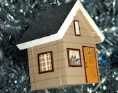 House-shaped Christmas Ornament (RESERVED FOR CARA)
