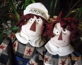 Raggedy Anne and Andy Heres My Heart FolkArt Dolls