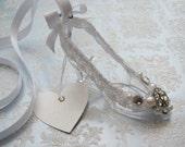 The Glass Slipper / Bridal Wedding Charm