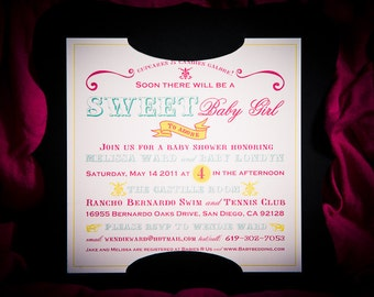 Candy Theme Baby Shower Invitation