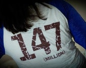 147 million orphans shirt RED XS