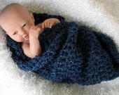 Newborn Cocoon Photo Prop in Midnight Blue