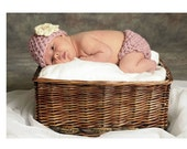 Rose Garden Cotton Diaper Cover and Hat Set