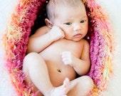 Pink Fuzz Chunky Baby Bowl Newborn Egg