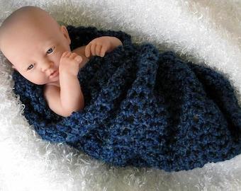 Newborn Cocoon Photo Prop in Midnight Blue